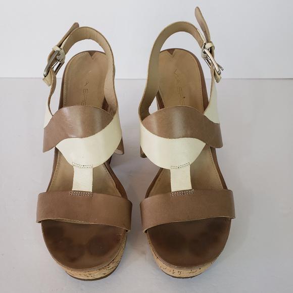 Clothing, Shoes & Accessories Women's Shoes Via Spiga Black Cork Sandal Size 10 High Quality Materials